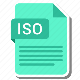 document, extension, file format, folder, image, iso, paper icon
