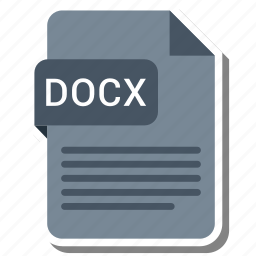 document, docx, extension, format icon
