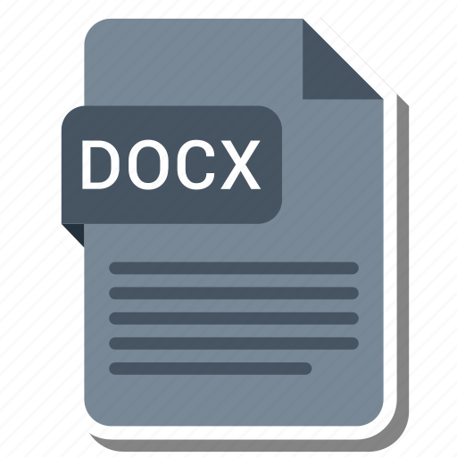 Document, docx, extension, format icon - Download on Iconfinder