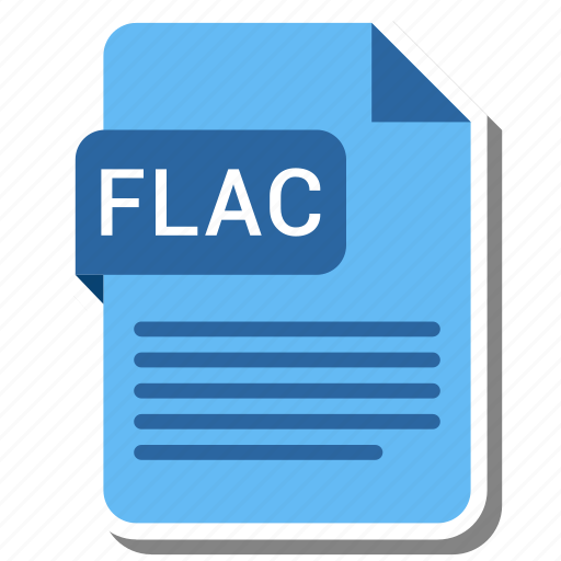 document, extension, flac, format icon