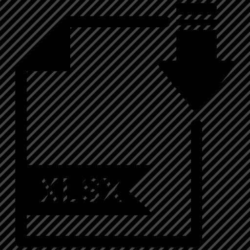 document, extension, format, paper, xlsx icon
