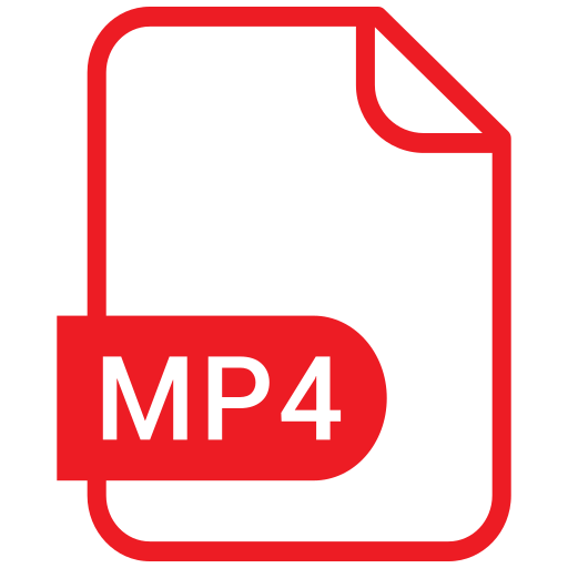 document, eps, format, mp4 icon