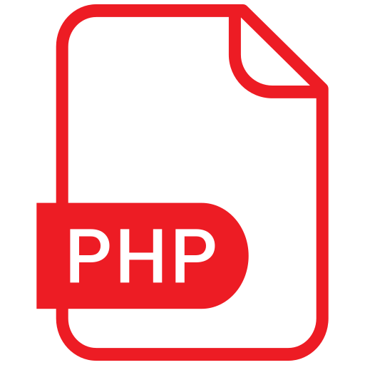 document, eps, file, format, php icon