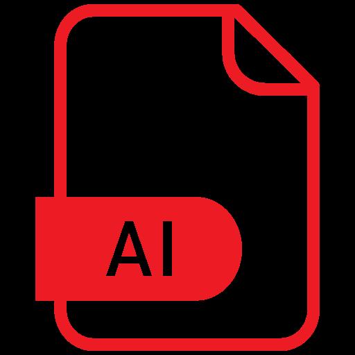 ai file, document, file, format icon
