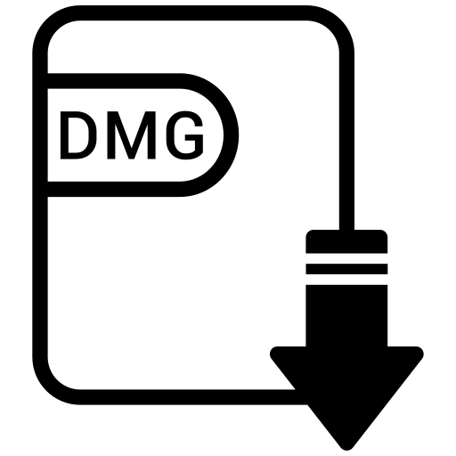 dmg, document, extension, file, format icon