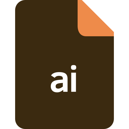 ai file firmat, document, extension, file, format icon