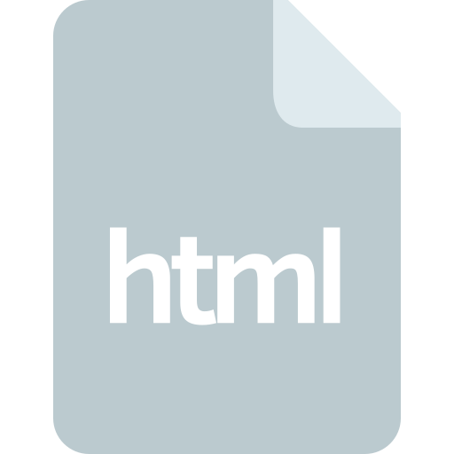 document, extension, file, format, html icon