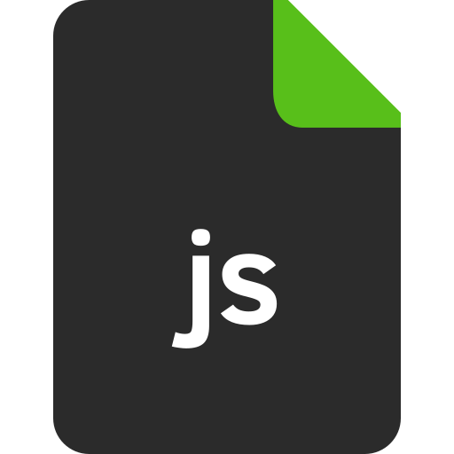document, extension, file, format, js file firmat icon