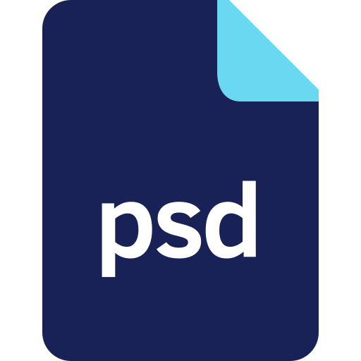 document, extension, file, filetype, format, psd icon