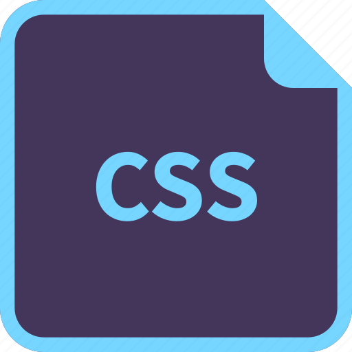 css, file, format, name icon