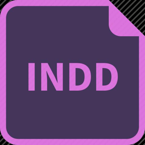 Adobe, file, indd, indesign, name, format icon - Download on Iconfinder