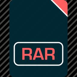 doc, document, file, rar icon