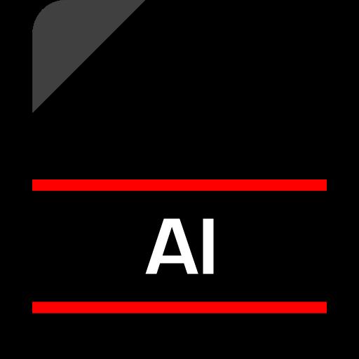 ai file, document, extension, file, illustrator file icon