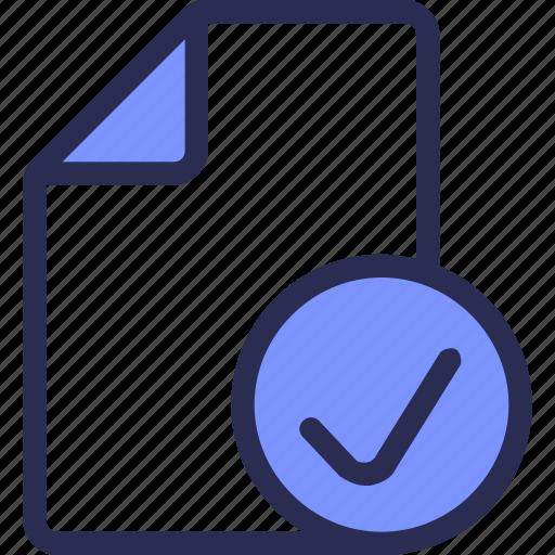check, document, done, file icon