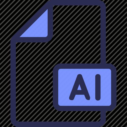 design, document, file, illustrator icon