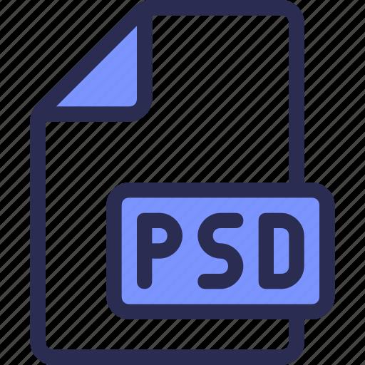 document, file, photoshop, psd icon