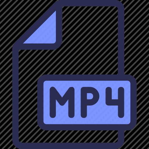 document, file, mp4, video icon