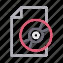 cd, document, dvd, file, sheet