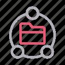 document, files, folder, network, sharing icon