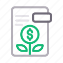 document, file, growth, investment, report icon