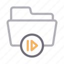 directory, files, folder, media, video icon