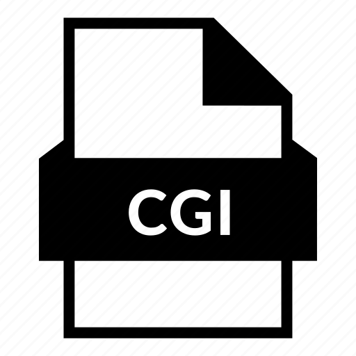 cgi file, document, extension, file, file format, script icon