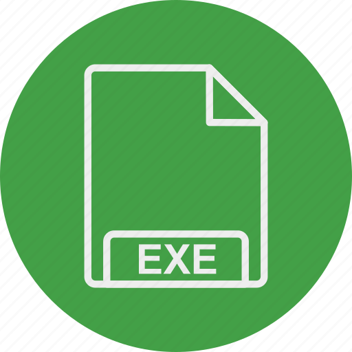 exe, extension, file, format, type icon