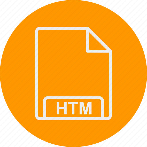 extension, file, format, htm, type icon
