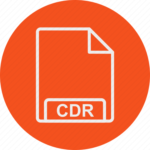 cdr, extension, file, format, type icon