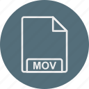 extension, file, format, mov, type icon
