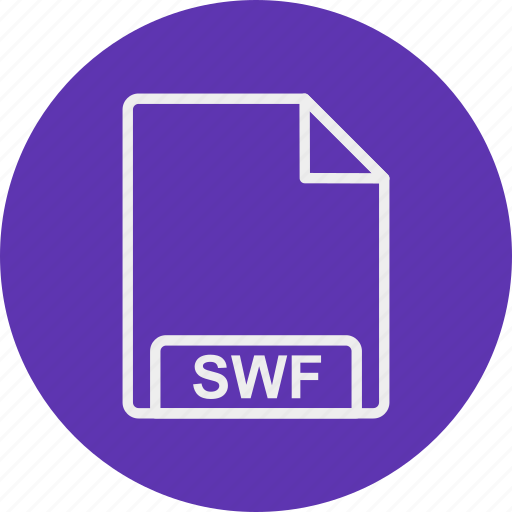 extension, file, format, swf, type icon