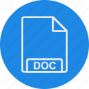 doc, extension, file, format, type icon