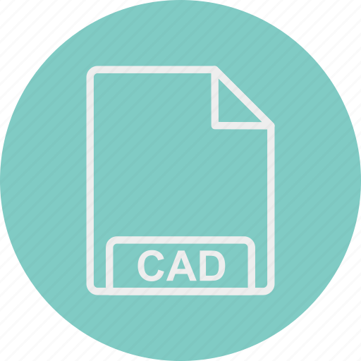 cad, extension, file, format, type icon