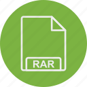 extension, file, format, rar, type icon