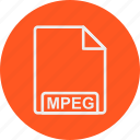 extension, file, format, mpeg, type icon