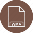 extension, file, format, type, wma icon