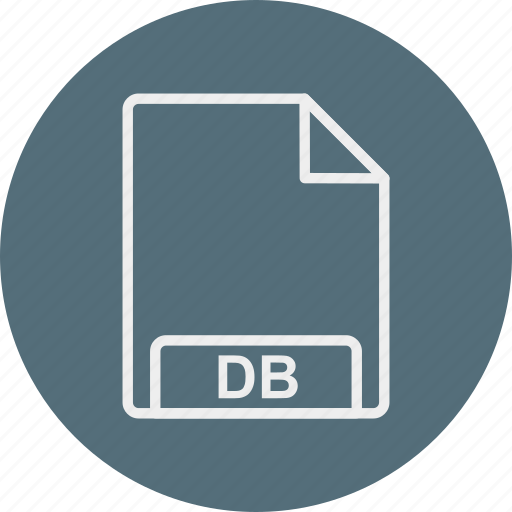 db, extension, file, format, type icon