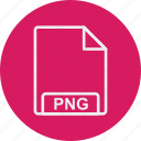 extension, file, format, png, type icon