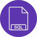 extension, file, format, sql, type icon