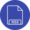 extension, file, format, rss, type icon