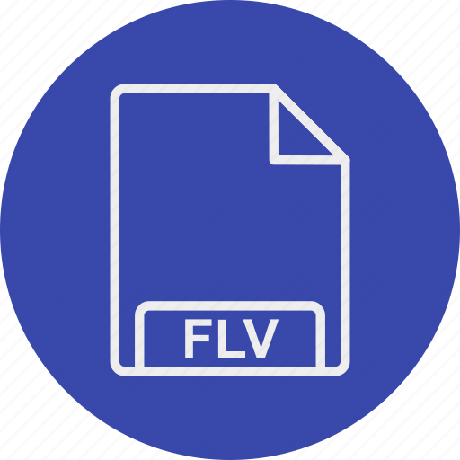 extension, file, flv, format, type icon