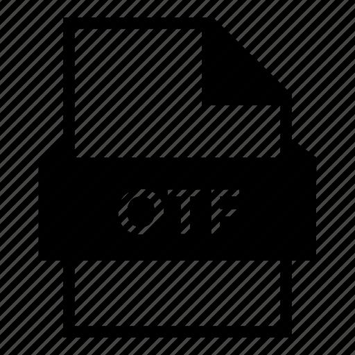 document, file, file format, font file, opentype, otf file icon
