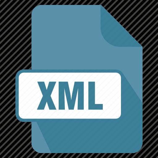 extension, file, filedata, format, xml icon