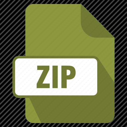 extension, file, filedata, format, zip icon