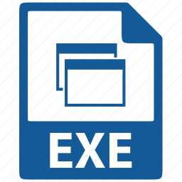 document, exe, extension, file, format icon