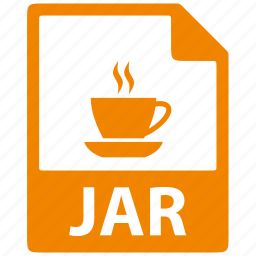 document, extension, file, format, jar, java icon