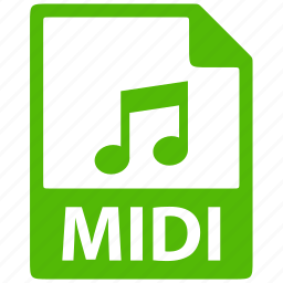 document, extension, file, format, midi icon