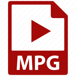 document, extension, file, format, mpg icon