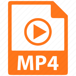 document, extension, file, format, mp4 icon
