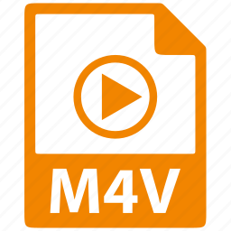 document, extension, file, format, m4v icon